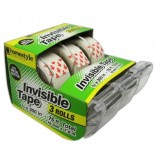 Wholesale 3 Transparent Rolls  Invisible Tape  $0.50/ea.