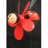 Wholesale Ladybug Windmill Lawnstake