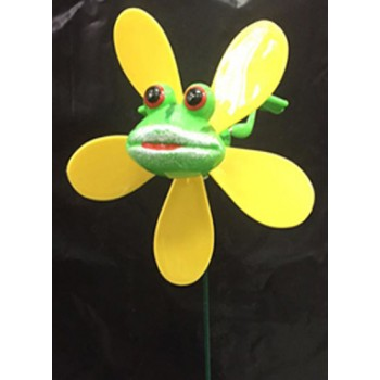 Wholesale Frog Windmill Lawnstake