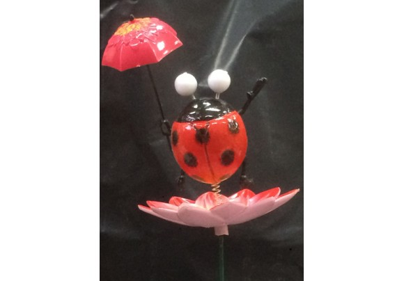 7235-7-Umbrella Ladybug Lawnstake