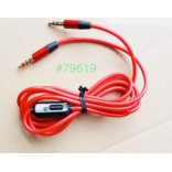 Wholesale Auxiliary Cable with MIC 3.5mm to 3.5mm Cable (Red)