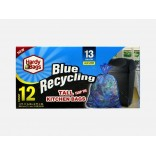 Wholesale 13GAL BLUE RECYCLING KITCHEN BAG 12CT-24-CS
