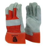 Wholesale  Heavy-Duty Work Gloves Safeguard-Orange-10/dozen