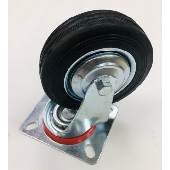 """Wholesale 4"""" Swivel Caster Wheels Rubber Base with Top Plate"""