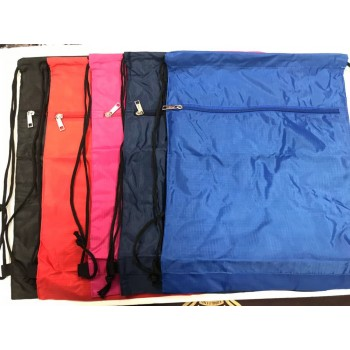 Wholesale  Lightweight Drawstring Backpacks with Zippered Pocket