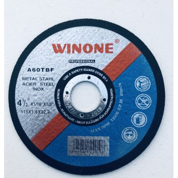 Wholesale Winone cutting disc 115x1.6x22.2