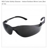 Wholesale NSX Turbo Safety Glasses - Indoor/Outdoor Mirror Lens (Box of 12)