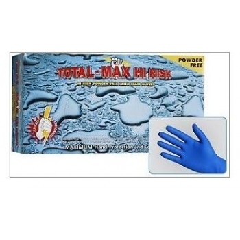 Wholesale Total-Max Hi Risk Powder Free Latex Exam Gloves-15mil (Case of 500)