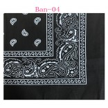 Wholesale Cotton Bandanas #Ban-04 Black.