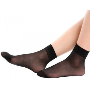 Wholesale Lady's Nylon Socks $12.00/Pack. Brown