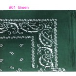 Wholesale Cotton Bandana  #01 Green.
