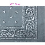 Wholesale Bandanas #07 Gray.