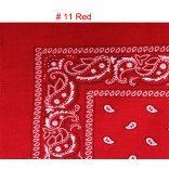 Wholesale Bandanas #Ban-11 Red.