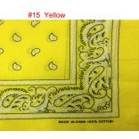 Wholesale Bandanas #15 Yellow.