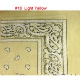 Wholesale Bandanas #Ban-18 Light-Yellow.