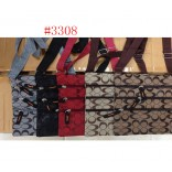 Wholesale 4 -zippers Lady Handbags  #3308 $1.00/each.