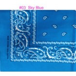 Wholesale Cotton Bandanas  #Ban-03 Sky Blue.
