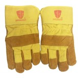 Wholesale Cowhide Yellow leather palm work glove with insulation